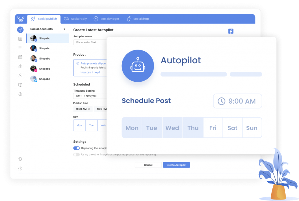 Pick an auto-post schedule