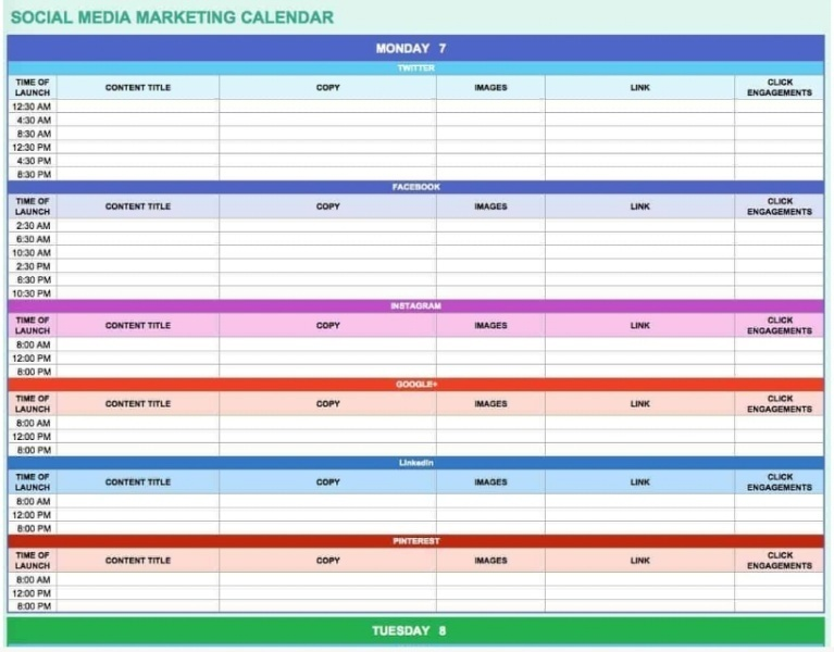 Social media marketing is made easier with a proper content calendar.