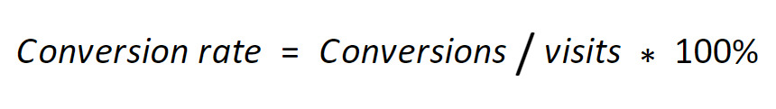 Formula to calculate your conversion rate