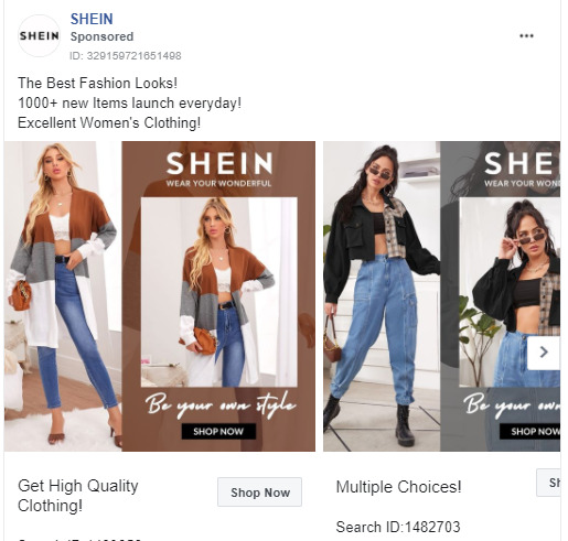 Include CTA in your Image or post content (Source: Facebook Ads Library)