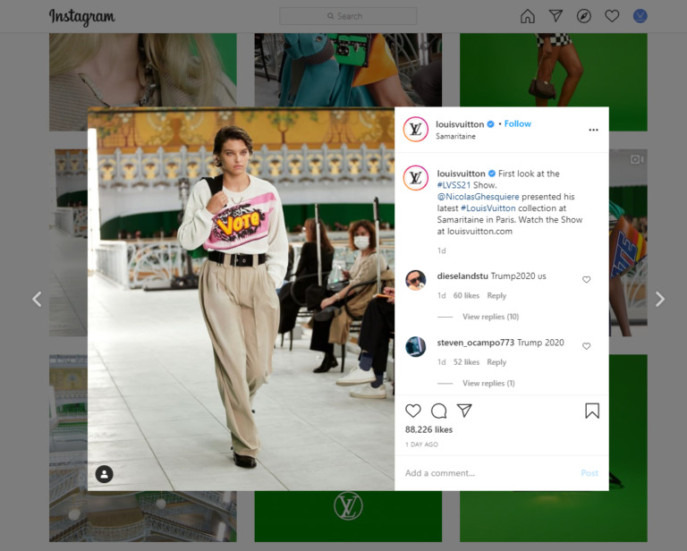 Instagram audiences are easier to approach through visuals.