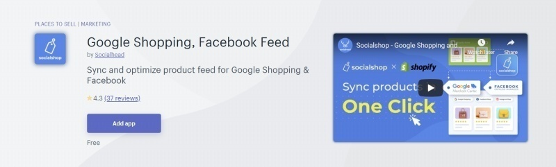 With Socialshop, you can sync products to a new level