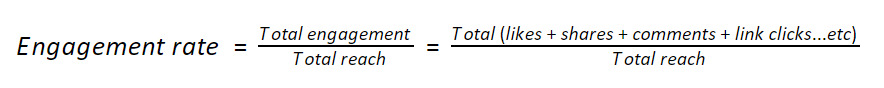 Formula to calculate engagement rate