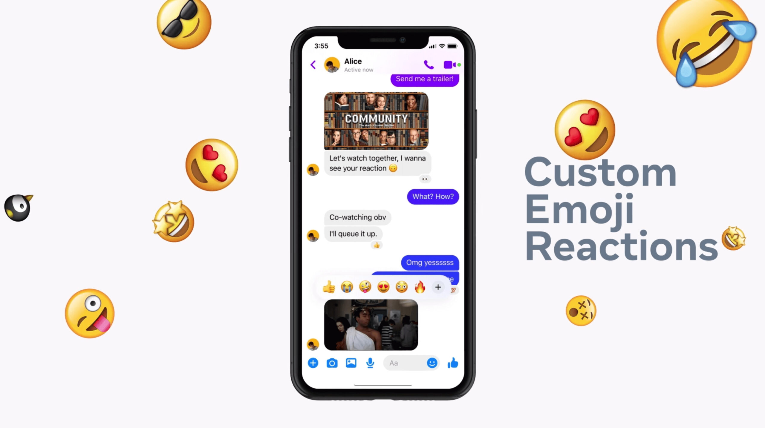 Almost everything Facebook Messenger has, Instagram box chat DOES and so much more!