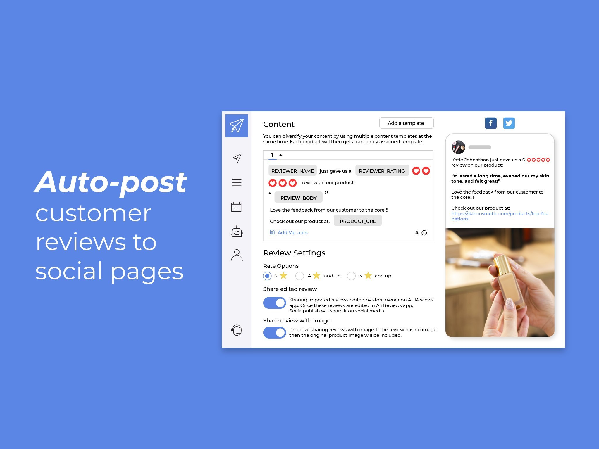 Auto-post your content on social media with Socialpublish helps you save time and money