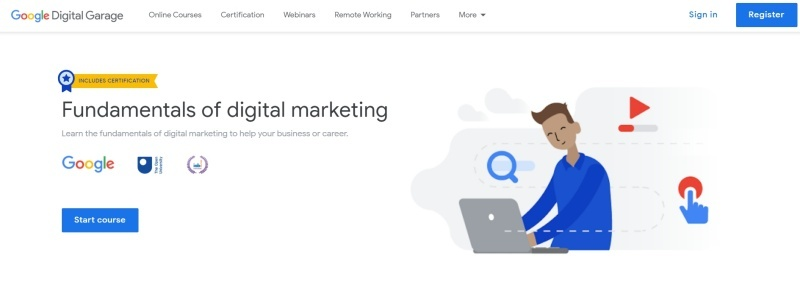 Google's free Fundamentals of Digital Marketing course is a goldmine for SEO tips to drive free traffic.