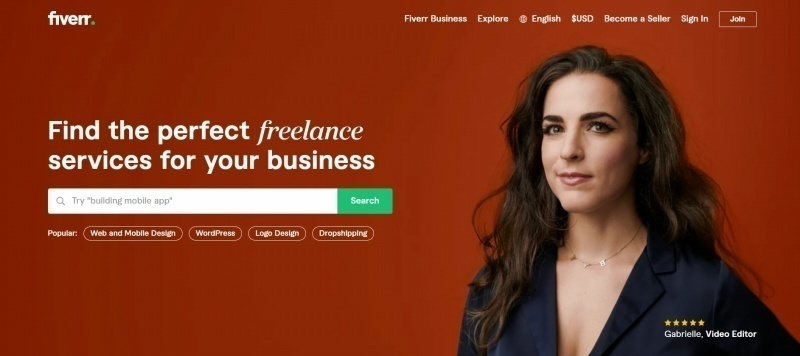 Fiverr has thousands of content writers, photographers, designers, and more. Source: Fiverr.