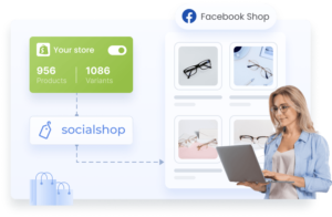 Reach millions of customers on Facebook Shop.}