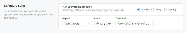 Schedule to sync your product feeds with Socialshop