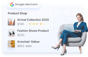 Start selling on Google Shopping within minutes.}