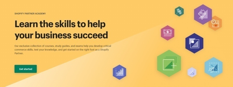 The Shopify Partner Academy is an incredible resource for learning how to develop your business. Source: Shopify.