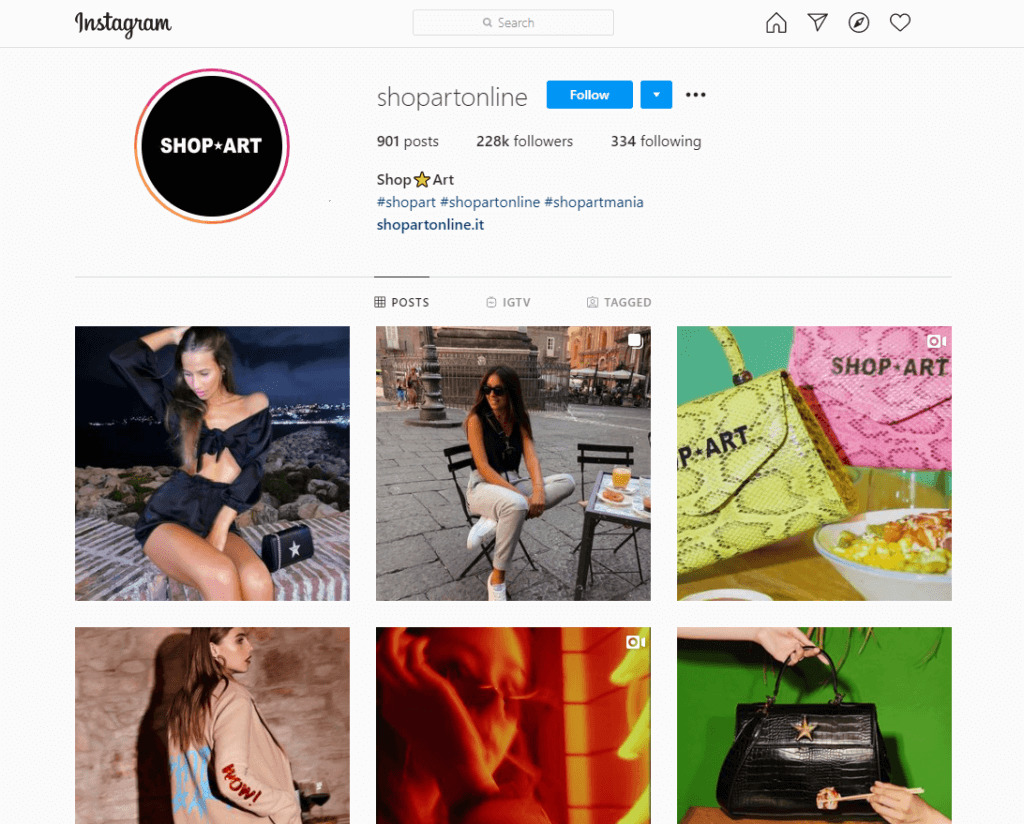 Use Instagram Business Account to use Shoppable Posts