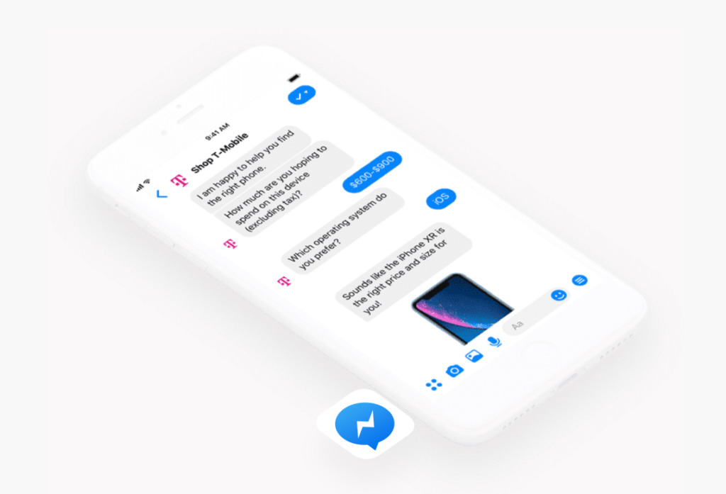 An easy chatbot application for Facebook Shop and Instagram Shop
