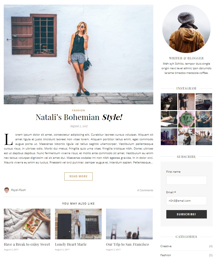 Design your personal blog with Ashe