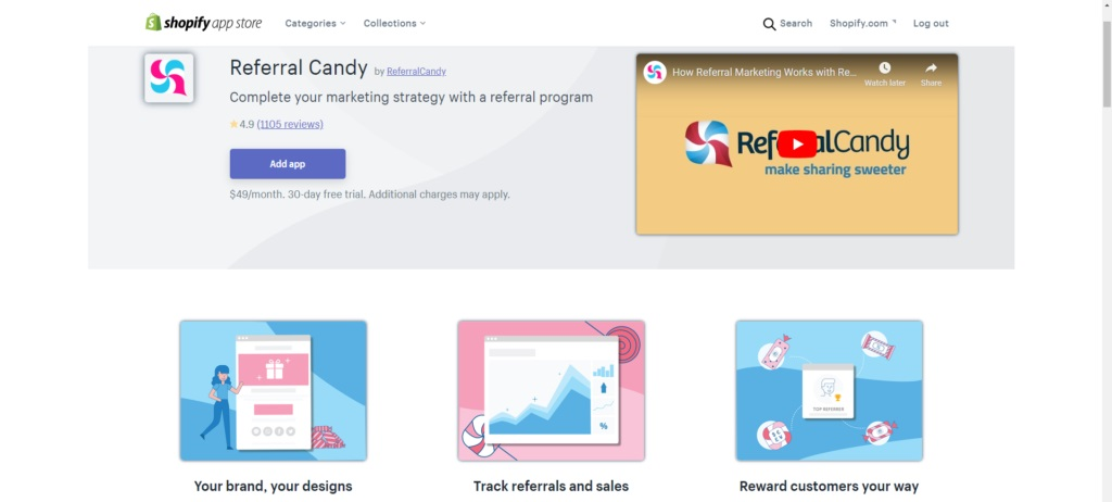 Give it a try with the Referral Candy app for 30 days free of charge