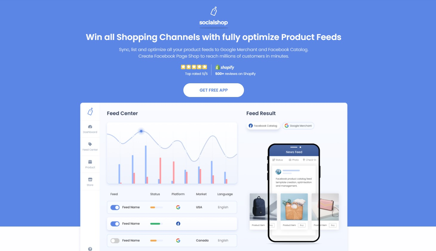 Socialshop, one app that helps sell on Google Shopping