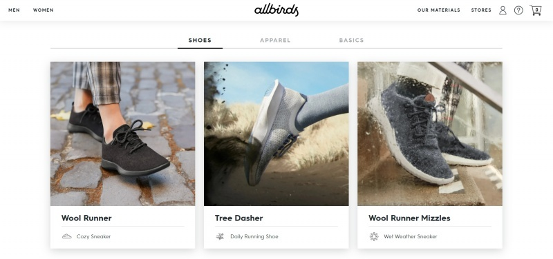 Shoe company Allbirds only has a few products in each collection and focuses on making them great