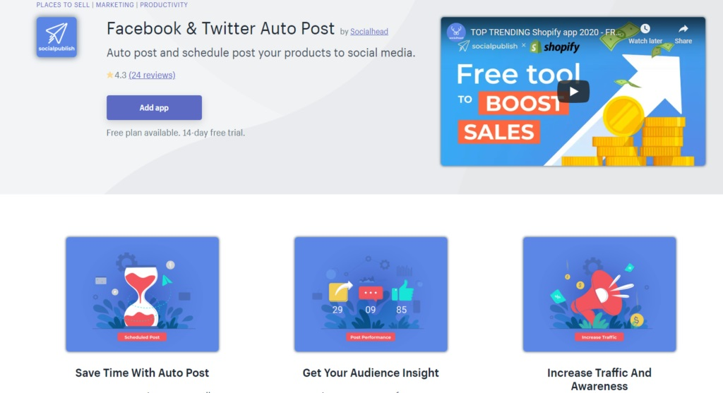 Socialpublish allows you to post your content automatically