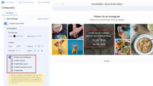 Users can turn on/off the Instagram Icons anytime they want - Socialwidget v2.1