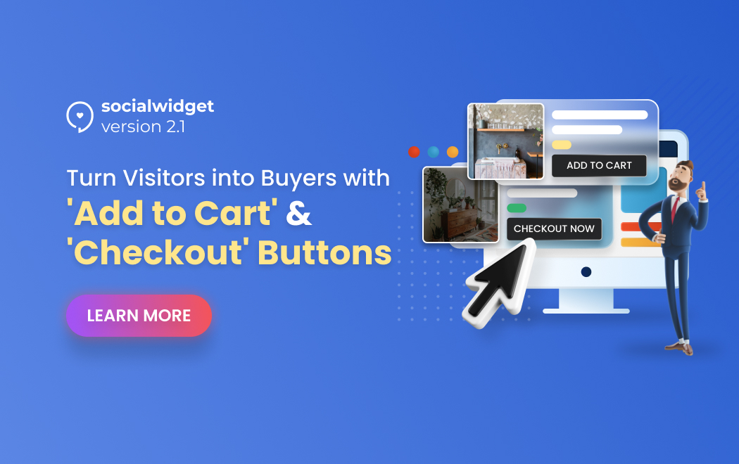 Socialwidget V2.1 - Convert Visitors Into Buyers With New CTA Buttons