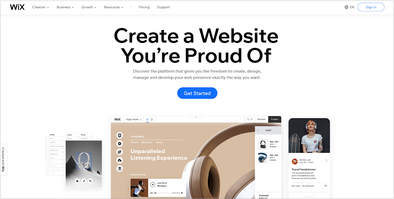 If you're a newbie in this eCommerce industry and want to be cost-effective, Wix is great of a choice