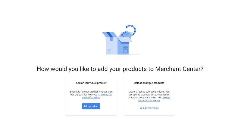 Choose how to add your products' information to Google Shopping listing for free