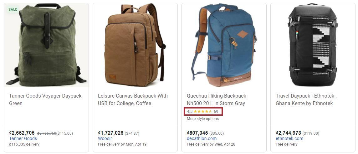 Make your items stand out from competitors simply with Google Product Ratings