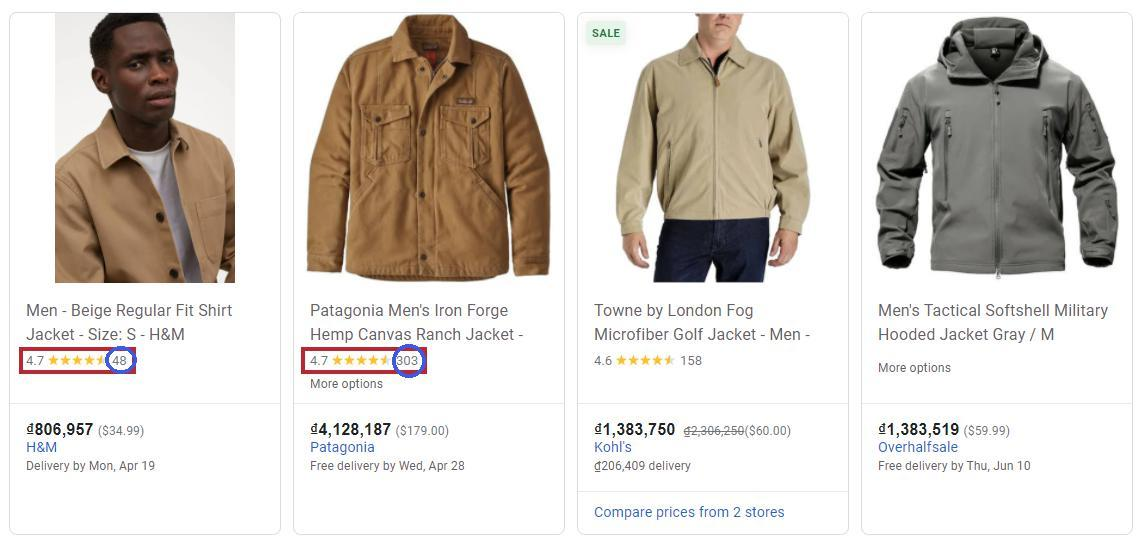 The exact same number but the 4.7 of the first jacket is 'heavier' than the second one