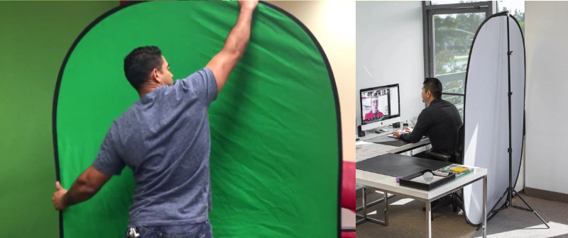 Useful and movable green screens. Source: Shopify
