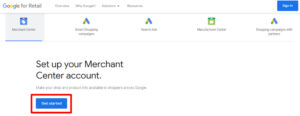Get started with Google Merchant Center easily