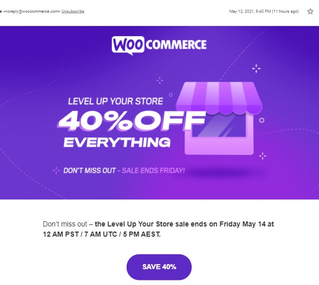 Email works best for customers who haven't shopped in your store for awhile.