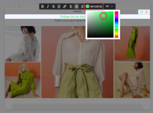 Even if you use Color Picker, it is much easier to track the colors with codes
