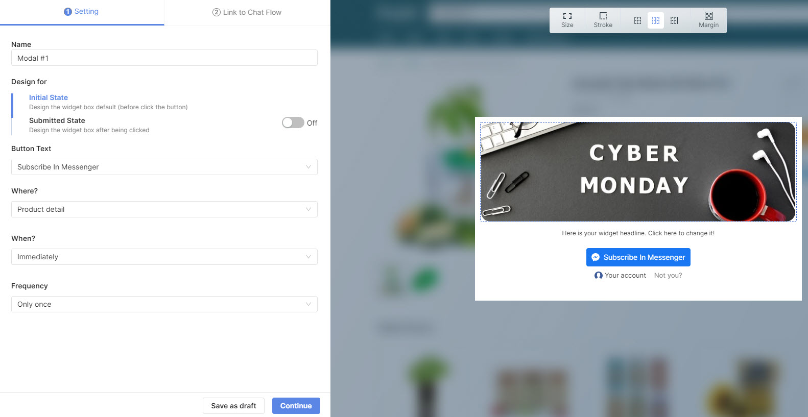 Now, you have all the rights to design and customize the popup of your own - Socialreply V2.2