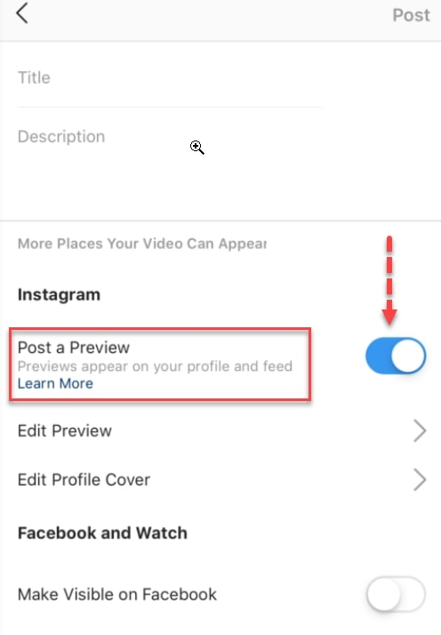 Post a preview of your IGTV video to drive views