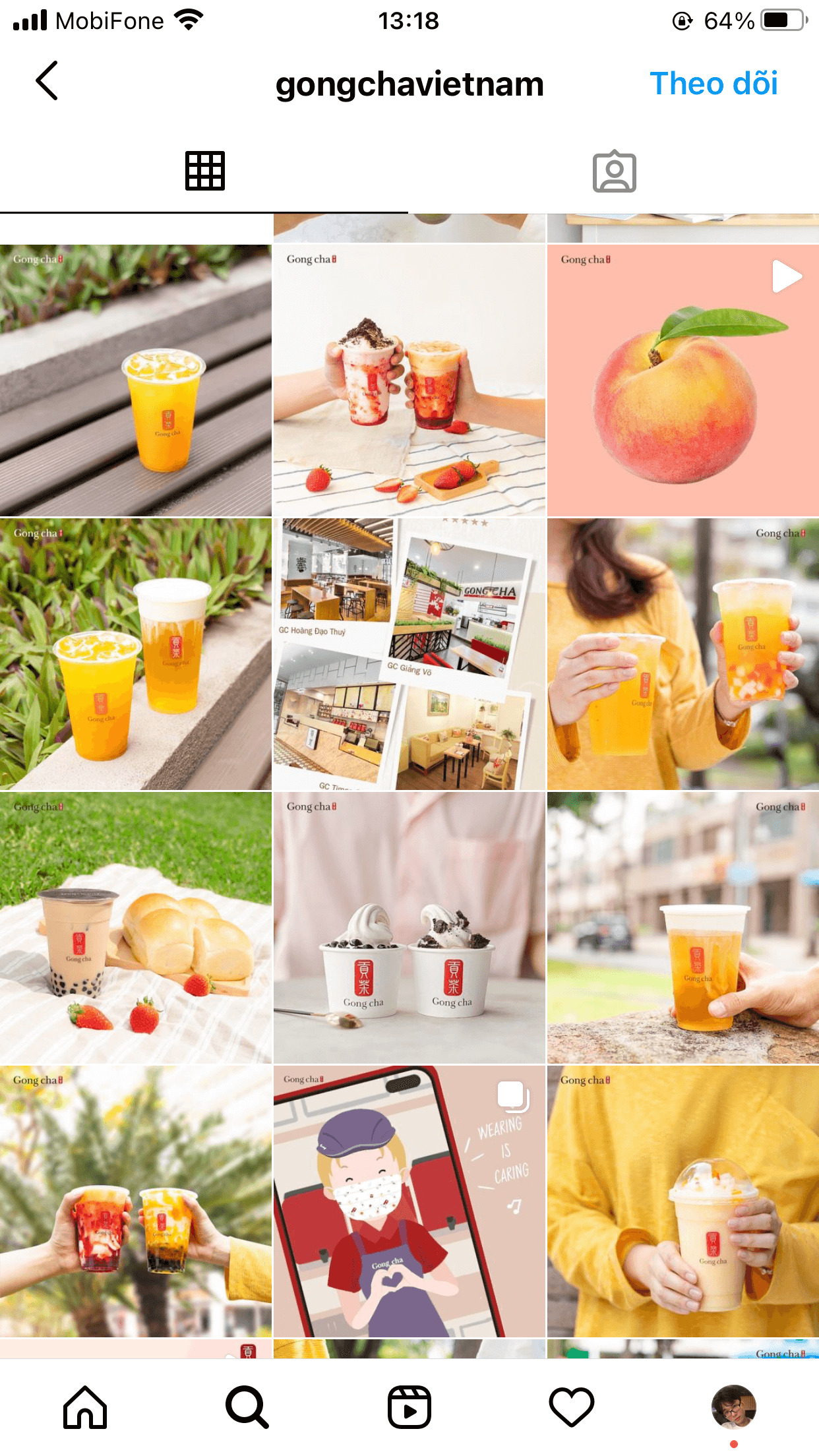 The pastel palette makes the brand Instagram feed looks cheerful