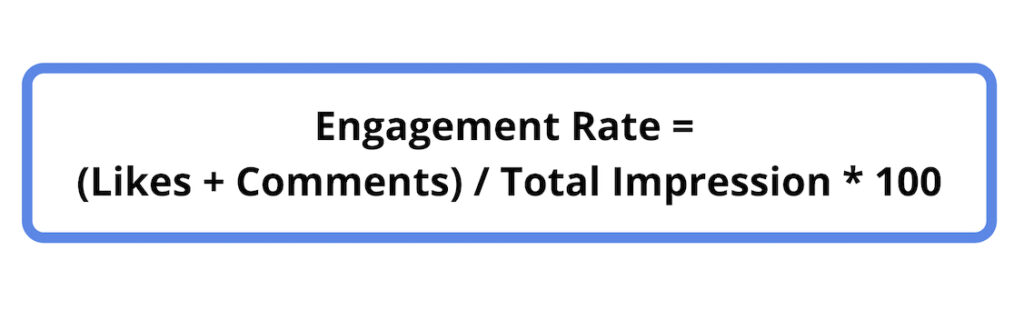 How to calculate engagement rate per impression