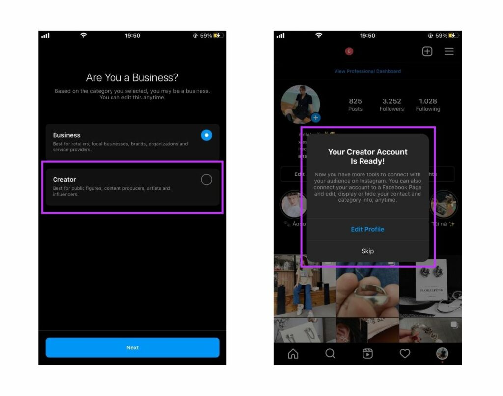 How to create an Instagram Creator account