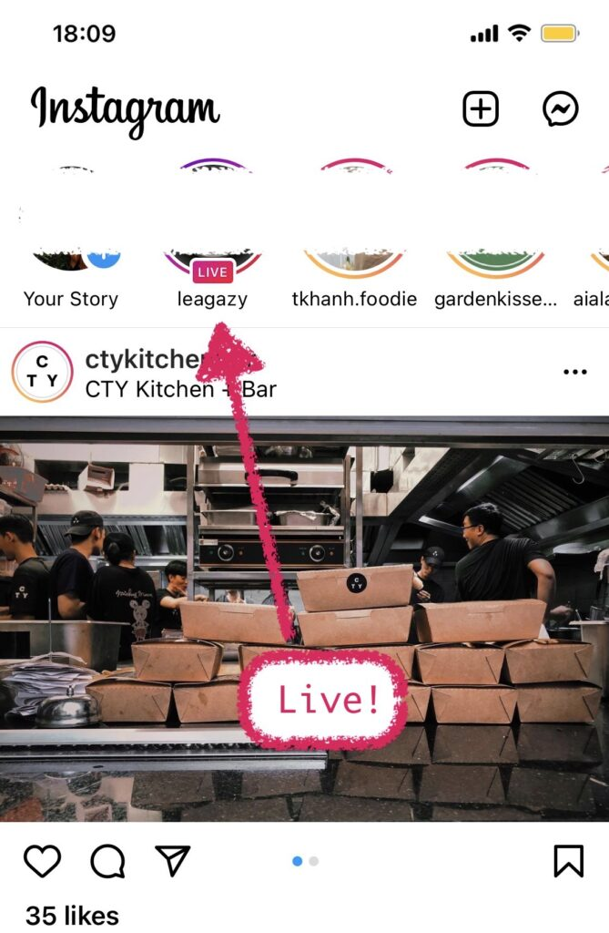 Instagram Live has a better place above all features