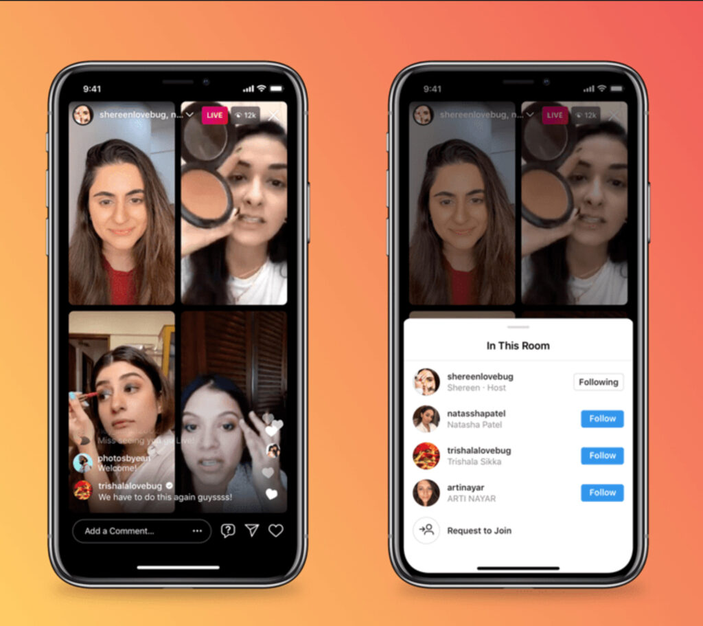 Instagram live-streams allows brands to engage closely with audiences