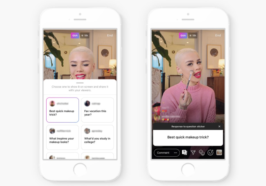Instagram Live feature for small businesses helps strengthen your community. Source: Instagram