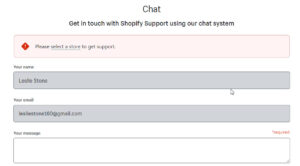 Leave your messages and Shopify support agents will contact you for responses