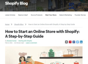 Shopify a great range of blogs in multiple categories