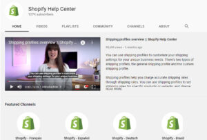 Shopify offers you a live library of tutorials that is available for free