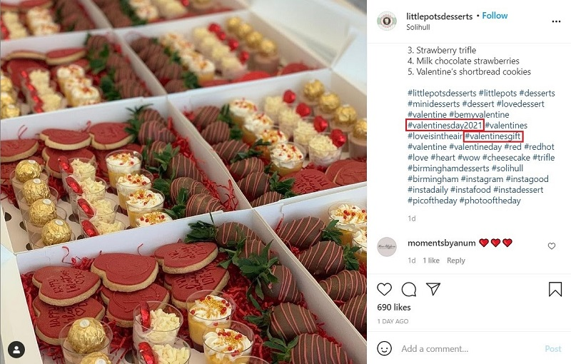 Event hashtags help customers find your posts easier