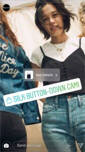 With clickable product stickers, your audiences can easily check out products featured in Instagram stories