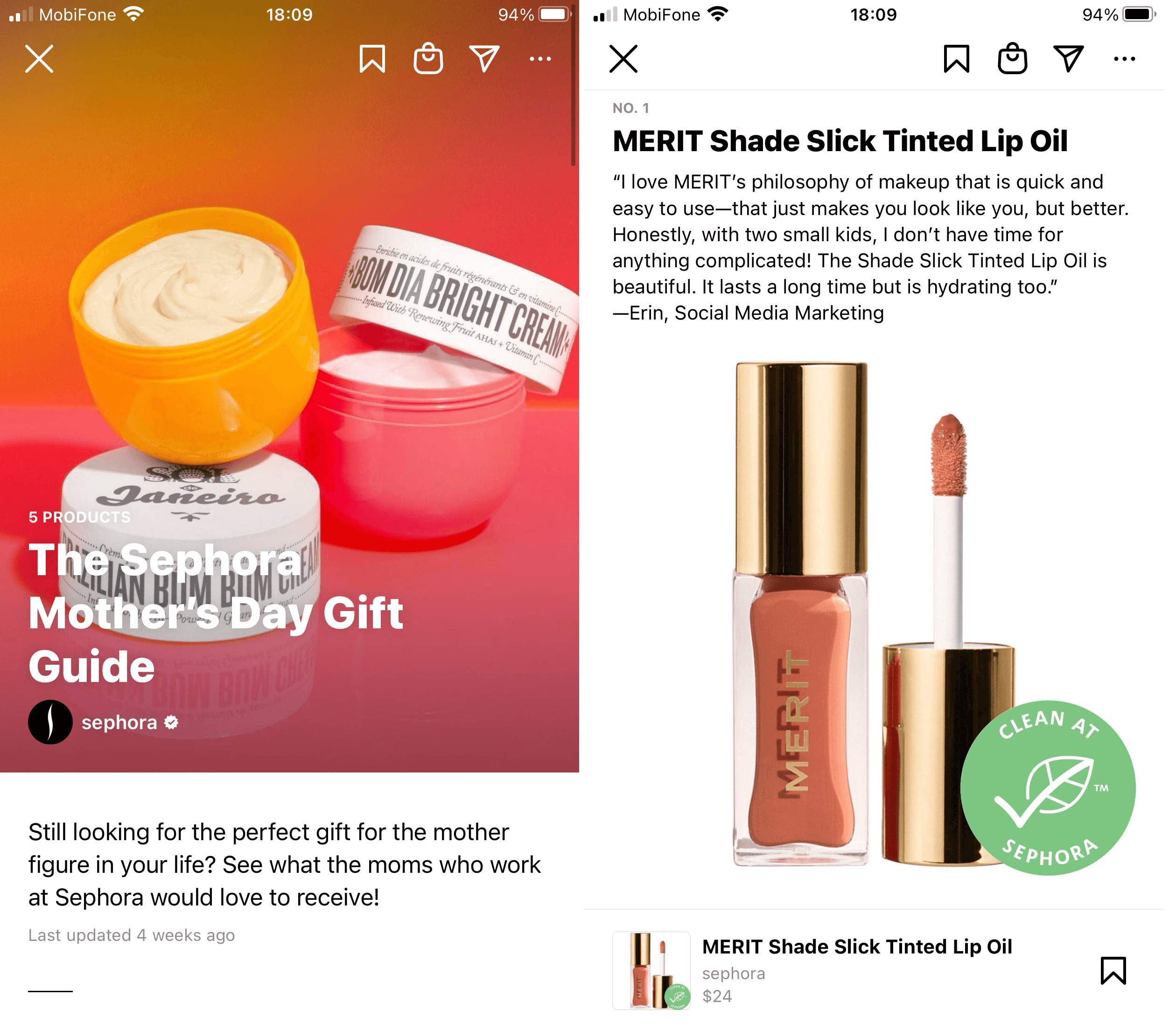 Sephora is a real pro in the Instagram Guides game