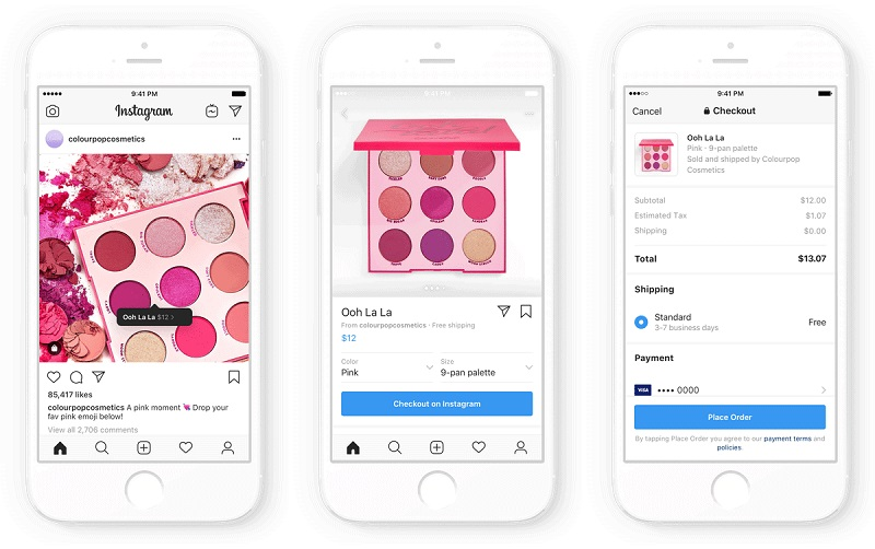 Instagram Checkout, one of Instagram Features for Small Businesses.Source: Instagram