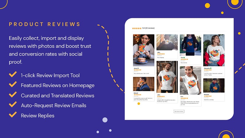 VITALS - one of the social proof apps for Shopify