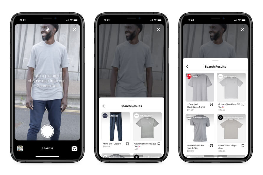 Visual search is considered the future of e-commerce