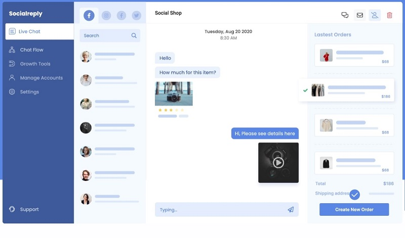 Socialreply helps you access all conversations with your customers without missing anyone